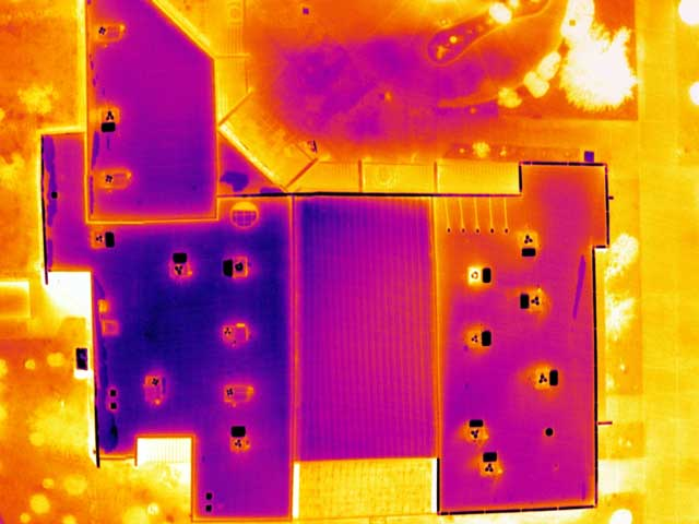 Membrane Roof Moisture Inspection - aerialthermalimaging.com